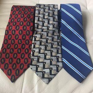 Other - Bundle of men's designer 100% silk necktie